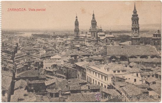 ZARAGOZA.- VISTA PARCIAL. (Postales - España - Aragón Antigua (hasta 1939))