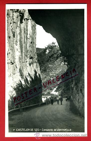 POSTAL CASTEJON DE SOS, HUESCA, CONGOSTO DE VENTAMILLO, P75087 (Postales - España - Aragón Antigua (hasta 1939))