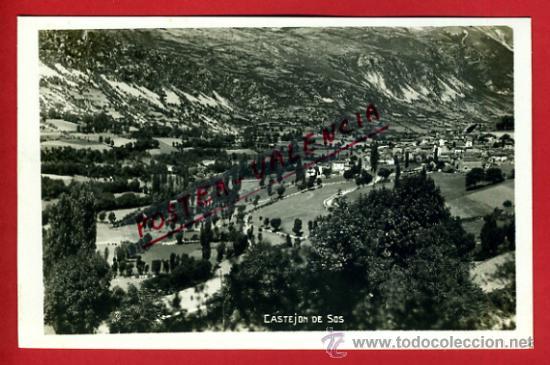 POSTAL CASTEJON DE SOS, HUESCA, VISTA PARCIAL, P75089 (Postales - España - Aragón Antigua (hasta 1939))