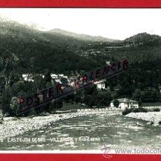 Postales: POSTAL CASTEJON DE SOS, HUESCA, VILLANOVA Y RIO ESERA, P75090. Lote 36446894