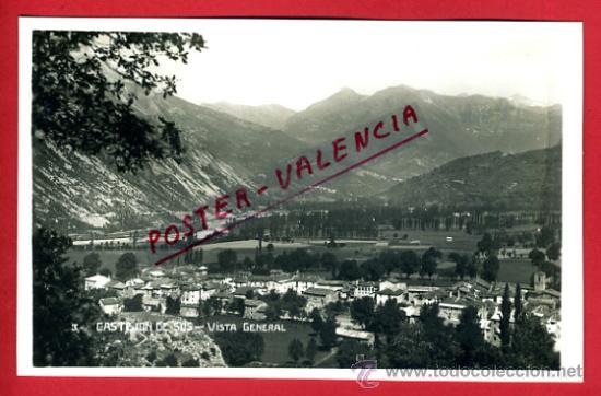POSTAL CASTEJON DE SOS, HUESCA, VISTA GENERAL, P75095 (Postales - España - Aragón Antigua (hasta 1939))