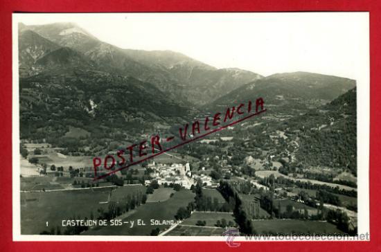 POSTAL CASTEJON DE SOS, HUESCA, EL SOLANO, P75096 (Postales - España - Aragón Antigua (hasta 1939))