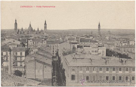 ZARAGOZA.- VISTA PANORÁMICA. (Postales - España - Aragón Antigua (hasta 1939))