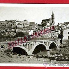 Cartes Postales: POSTAL HIJAR, TERUEL, ENTRADA, EL PUENTE, FOTOGRAFICA, P75160. Lote 36472310