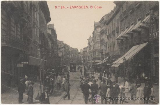 ZARAGOZA.- EL COSO. (C.1915). (Postales - España - Aragón Antigua (hasta 1939))