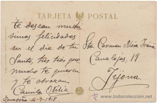 Postales: ZARAGOZA.- EL COSO. (C.1915). - Foto 2 - 36489004