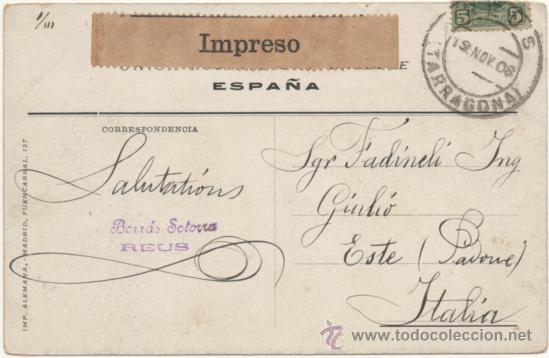 Postales: EXPOSICIÓN DE ZARAGOZA.- EDIFICIO DE ARTES É INDUSTRIAS. (1908). - Foto 2 - 36490498
