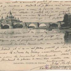 Postales: ZARAGOZA.- PUENTE DE PIEDRA. (C.1900).. Lote 36494733