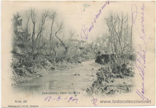 ZARAGOZA.- RÍO HUERVA. (C.1900). (Postales - España - Aragón Antigua (hasta 1939))