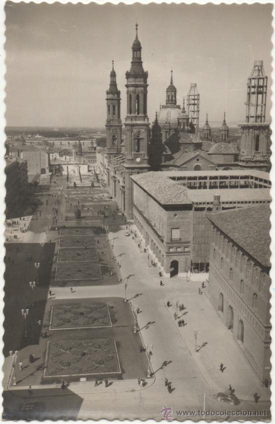 ZARAGOZA.- PLAZA Y BASÍLICA DE NUESTRA SEÑORA DEL PILAR.- EDICIONES DARVI, DANIEL ARBONES VILLACAMPA (Postales - España - Aragón Moderna (desde 1.940))