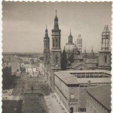 Postales: ZARAGOZA.- PLAZA Y BASÍLICA DE NUESTRA SEÑORA DEL PILAR.- EDICIONES DARVI, DANIEL ARBONES VILLACAMPA. Lote 126903732