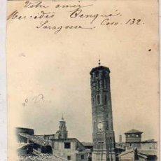 Postales: ZARAGOZA. TORRE NUEVA (DERRIBADA) L. ESCOLA. REVERSO SIN DIVDIIR. CIRCULADA.. Lote 36558661