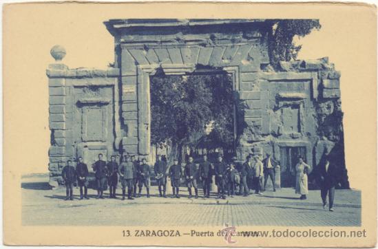 ZARAGOZA.- PUERTA DEL CARMEN. (Postales - España - Aragón Antigua (hasta 1939))