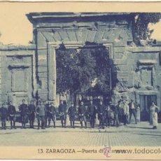 Postales: ZARAGOZA.- PUERTA DEL CARMEN.. Lote 36597550