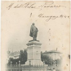 Postales: ZARAGOZA.- ESTATUA DE PIGNATELLI. (C.1900).. Lote 36598117