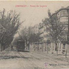 Postales: ZARAGOZA.- PASEO DE SAGASTA.. Lote 36598512