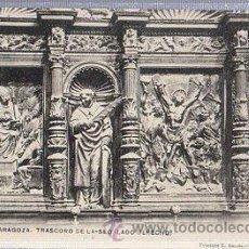 Cartes Postales: TARJETA POSTAL ZARAGOZA, TRASCORO DE LA SEO, 19, FOTOTIPIA ESCOLA. Lote 36654765