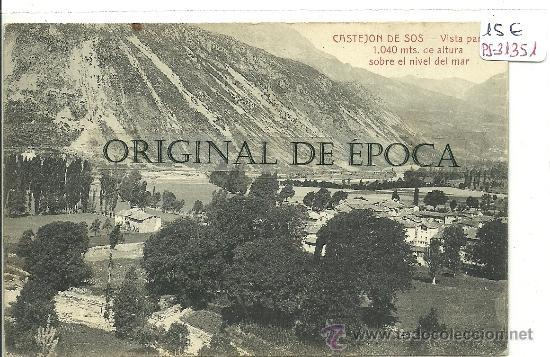 (PS-31351)POSTAL DE CASTEJON DE SOS-VISTA PARCIAL (Postales - España - Aragón Antigua (hasta 1939))