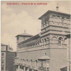 Postales: ZARAGOZA.- PALACIO DE LA AUDIENCIA.. Lote 36738150