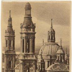 Postales: ZARAGOZA.- TORRES DEL TEMPLO DEL PILAR.. Lote 36864158