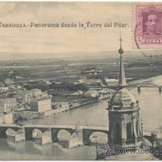 Postales: ZARAGOZA.- PANORAMA DESDE LA TORRE DEL PILAR.. Lote 36879351