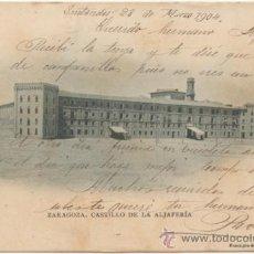 Postales: ZARAGOZA.- CASTILLO DE LA ALJAFERÍA. (C.1900).. Lote 36962083