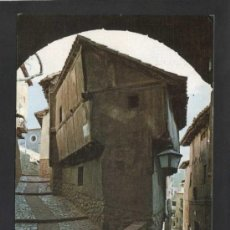 Postales: ALBARRACÍN *ARCO DEL PORTAL...* ED. SICILIA Nº 7. GOFRADA. CIRCULADA.. Lote 37011033