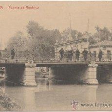 Postales: ZARAGOZA.- PUENTE DE AMÉRICA.. Lote 37013960