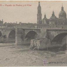 Postales: ZARAGOZA.- PUENTE DE PIEDRA Y EL PILAR.. Lote 37066066
