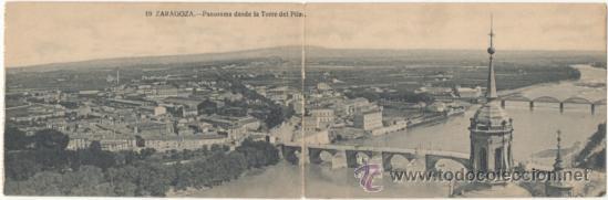 ZARAGOZA.- PANORAMA DESDE LA TORRE DEL PILAR. (Postales - España - Aragón Antigua (hasta 1939))