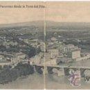 Postales: ZARAGOZA.- PANORAMA DESDE LA TORRE DEL PILAR.. Lote 37066422