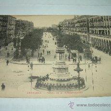 Postales: ANTIGUA POSTAL.......ZARAGOZA....PASEO DE LA INDEPENDENCIA...1910. Lote 37089185