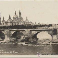 Postales: ZARAGOZA.- PUENTE DE PIEDRA Y EL PILAR.. Lote 37126797