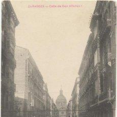 Postales: ZARAGOZA.- CALLE DE DON ALFONSO I.. Lote 37169127