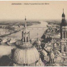 Postales: ZARAGOZA.- VISTA PANORÁMICA DEL EBRO.. Lote 37176750