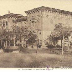 Postales: ZARAGOZA PALACIO DE MUSEOS SIN ESCRIBIR. Lote 37318671
