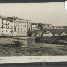 Postales: VALDERROBRES - 10 - PUENTE Y PUEBLO - ED.FLAMERICH (15.912). Lote 37425358