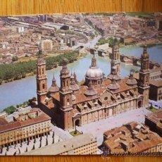 Postales: POSTAL ZARAGOZA, VISTA AEREA DEL PILAR Y RIO AEREO 2. Lote 37662373
