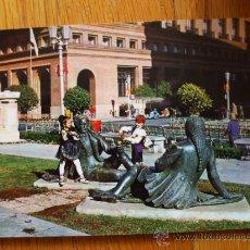 Postales: POSTAL DE ZARAGOZA, MONUMENTO A LAS MAJAS DE GOYA. Lote 37662398