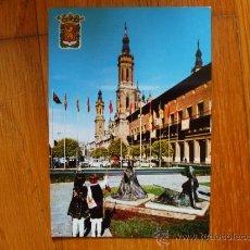 Postales: POSTAL DE ZARAGOZA, AYUNTAMIENTO Y CATEDRAL DEL ASEO. Lote 37662430