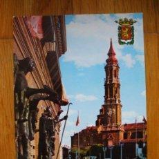 Postales: POSTAL DE ZARAGOZA, AYUNTAMIENTO Y CATEDRAL DEL ASEO. Lote 37662712