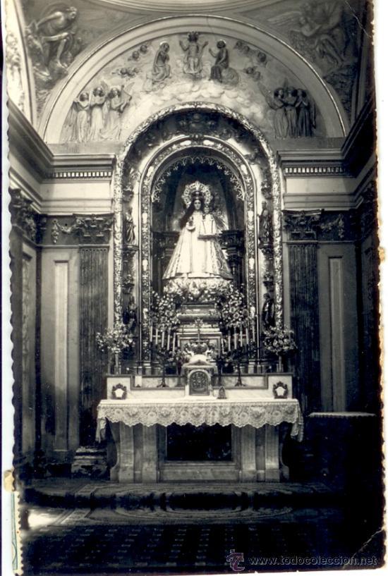 ALCAÑIZ - TERUEL - POSTAL ALTAR PATRONA DE LA VIRGEN DE LOS PUEYOS (Postales - España - Aragón Moderna (desde 1.940))