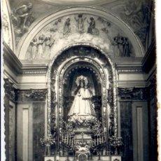 Postales: ALCAÑIZ - TERUEL - POSTAL ALTAR PATRONA DE LA VIRGEN DE LOS PUEYOS. Lote 37855716