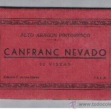 Postales: JACA CANFRANC NEVADO 10 POSTALES BLOC ACORDEON PERFECTO. Lote 38981691