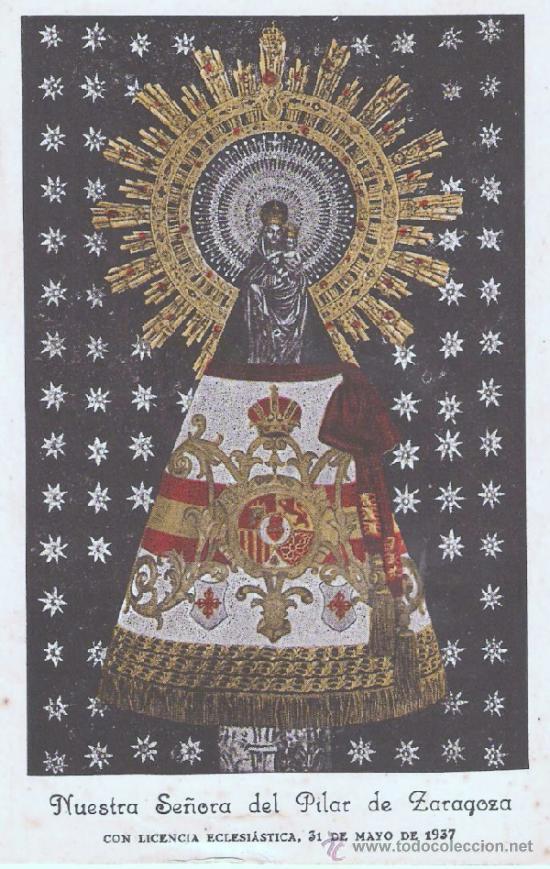 POSTAL - RELIGIOSA VIRGEN DEL PILAR (Postales - España - Aragón Antigua (hasta 1939))