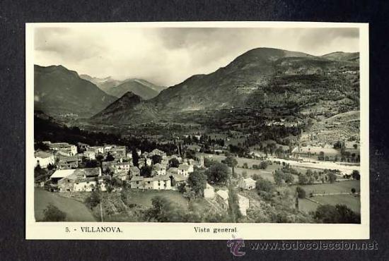 POSTAL DE VILLANOVA: VISTA GENERAL (NUM. 5) (Postales - España - Aragón Antigua (hasta 1939))
