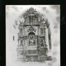 Postales: CANTAVIEJA ENTRADA PUEBLO Y ALTAR MAYOR - TERUEL - SIN EDICIÓN - POSTAL. Lote 39252453