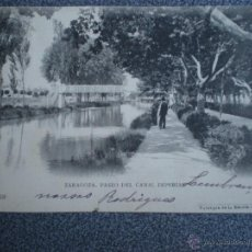 Postales: ARAGÓN ZARAGOZA PASEO DEL CANAL IMPERIAL POSTAL DE ESCOLÁ Nº 68. Lote 39323352