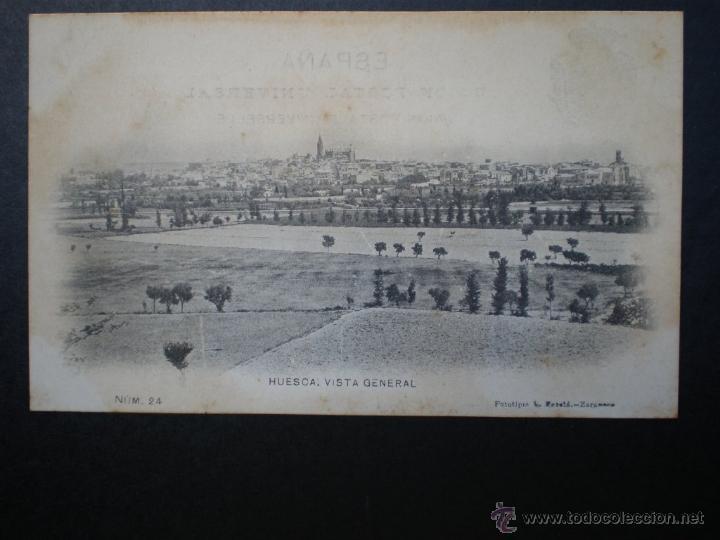 ARAGÓN HUESCA VISTA GENERAL DE ESCOLÁ Nº 24 (Postales - España - Aragón Antigua (hasta 1939))