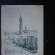 Postales: ARAGÓN CALATAYUD TORRE DE SANTA MARÍA AÑO 1903. Lote 39336668